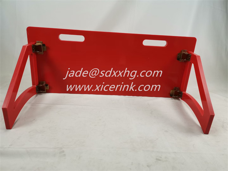 red hdpe soccer rebound board football rebounder plate