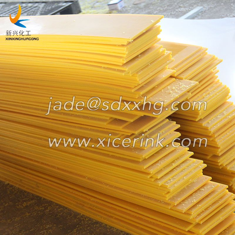 Yellow HDPE Sheet for Dasher Boards