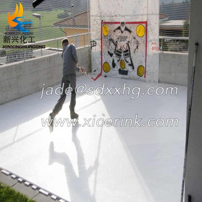 Cheap outdoor Self Lubricating 8X4 Uhmwpe China Rink Synthetic Ice skating boards