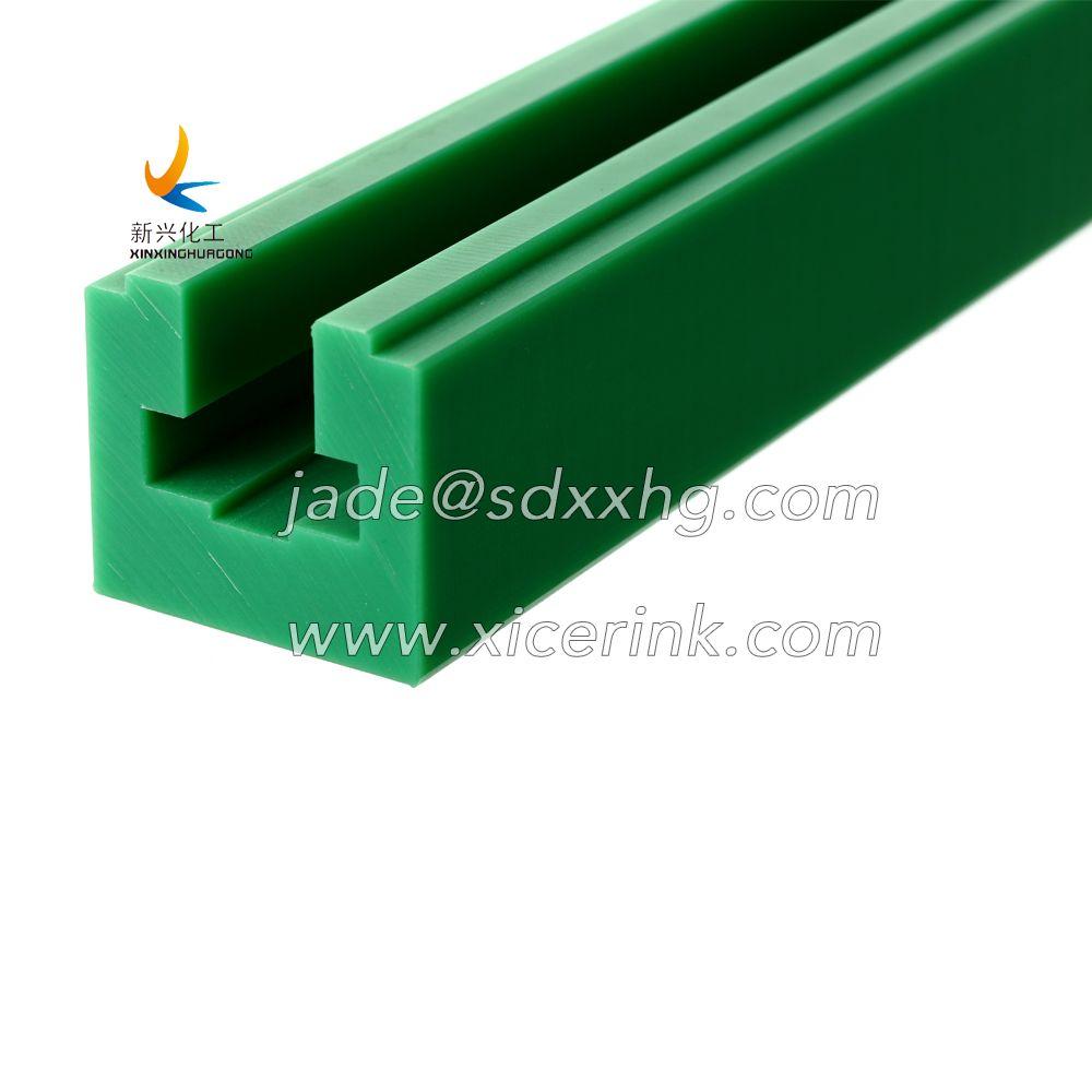 UHMW PE polyethylene wear resistance green wear strip