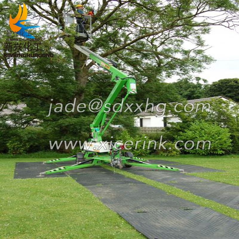 4x8 plastic uhmwpe temporary Heavy duty construction track road mat hdpe ground protection mat