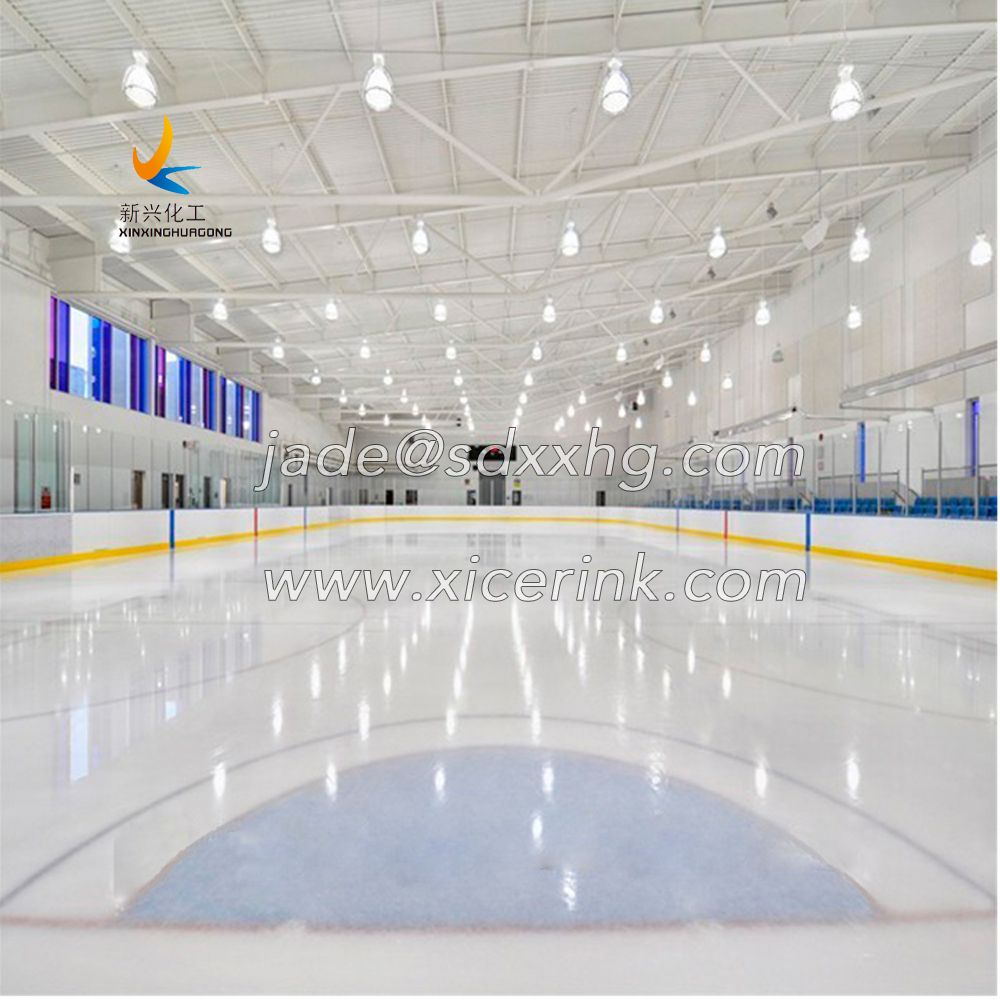 uhmwpe material super glide ice skating rink synthetic ice panel