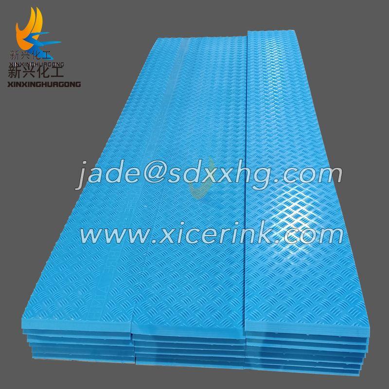 HDPE non-slip plate blue color mat