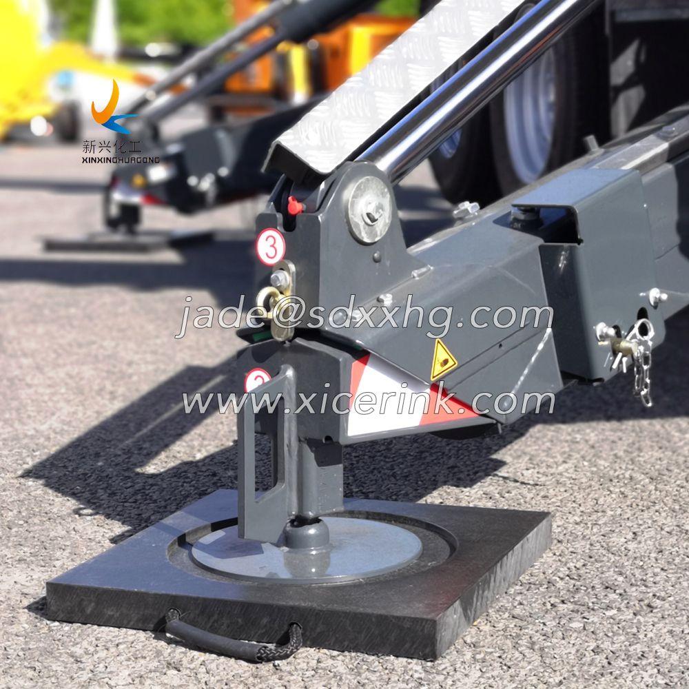 Tough and durable UHMW crane pads