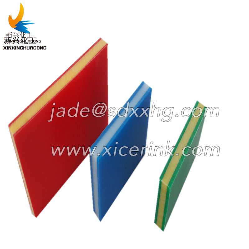 Bi- colour 3 layer HDPE plastic SHEET for playground equipments