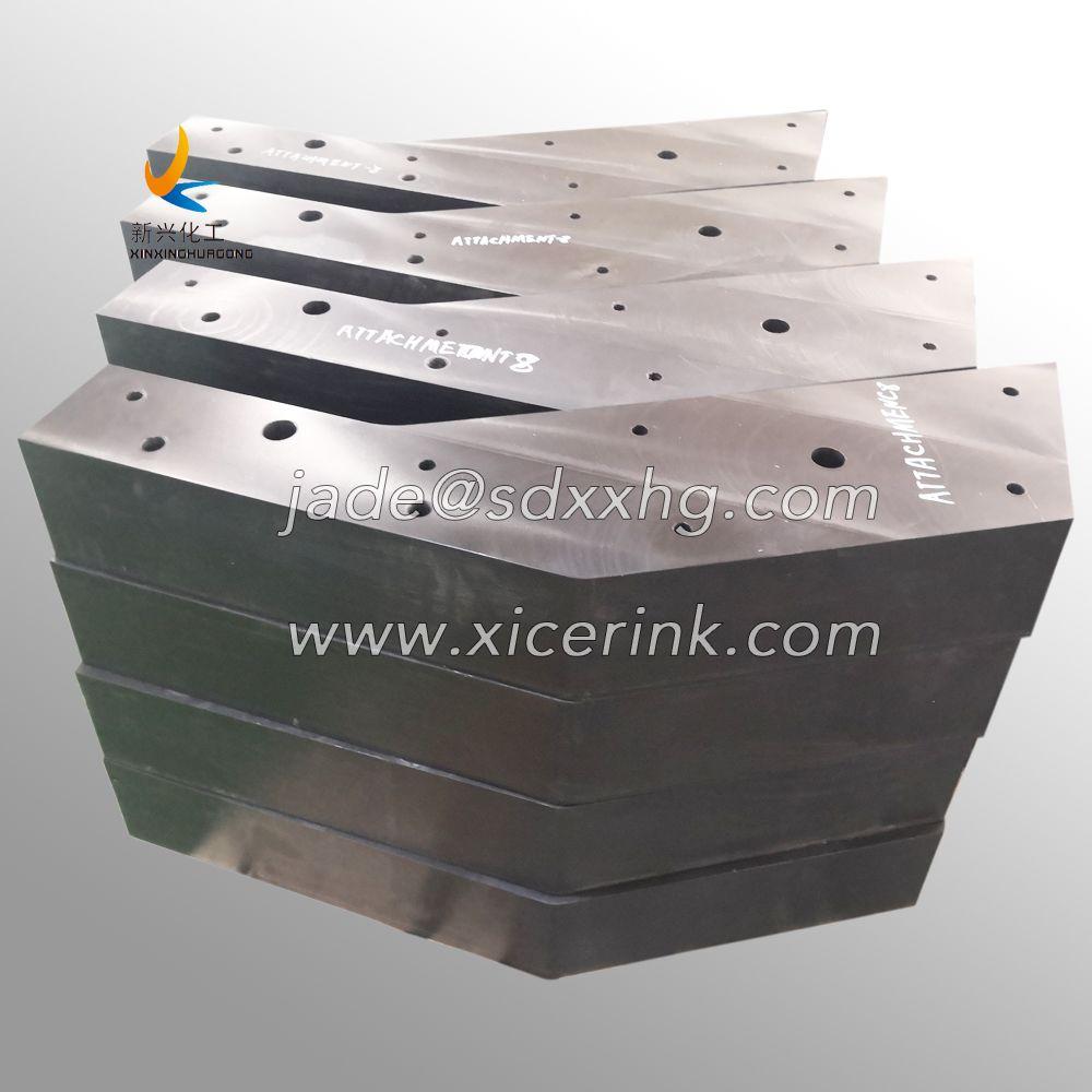 Abrasion Resistant White UHMW-PE Machine Part,Solid Plastic Blocks