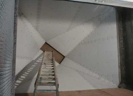 Coal bunker anti-sticking blocking liner (UHMWPE sheets) 煤仓防粘堵衬板(高分子聚乙烯衬板)