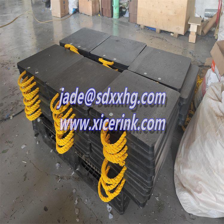 crane block HDPE plate UHMWPE crane outrigger pads
