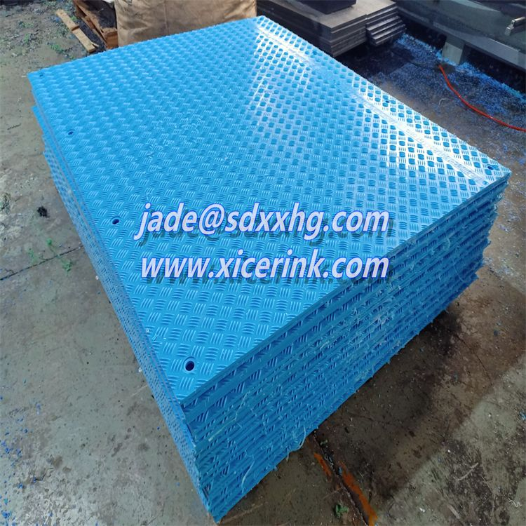 plastic sheet hdpe black textured ground mat